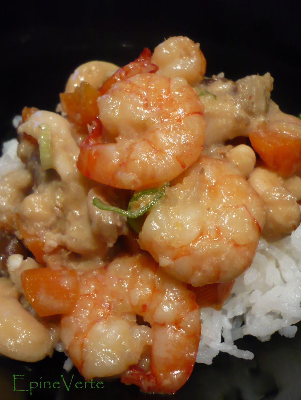 Curry de crevettes aux noix de cajou