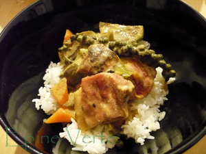 Curry vert au canard et poivre vert frais