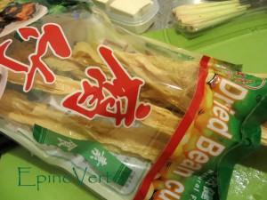 Feuilles de tofu séchées