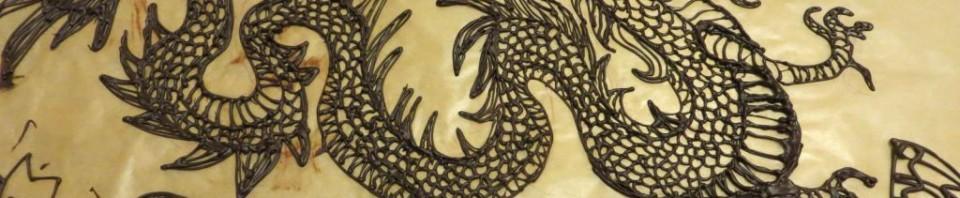 Dragon en chocolat