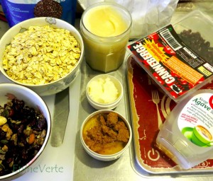 Les ingrédients pour du granola