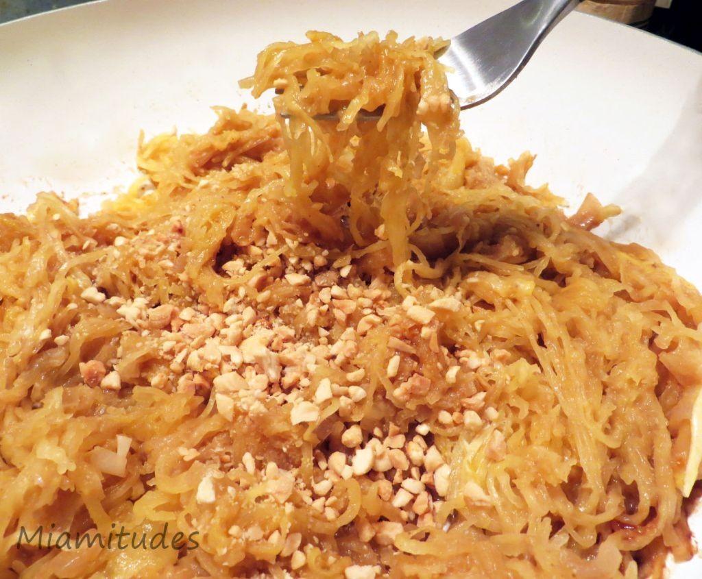 courge spaghetti sauce cacahuète