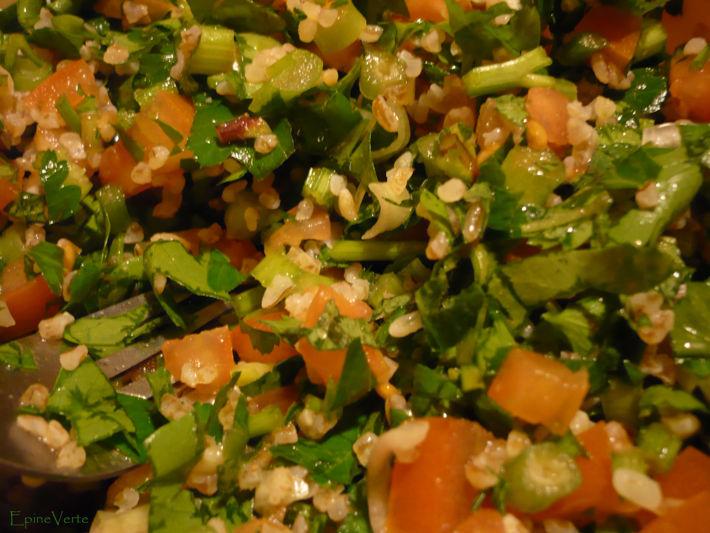 "salade ""taboulé"" (cuisine libanaise) - miamitudes"