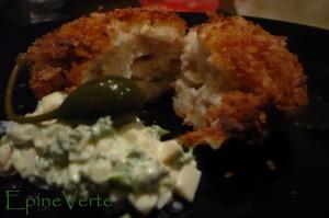 Boulettes de poisson au miso, sauce tartare japonaise