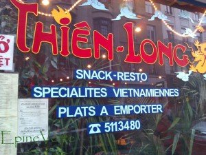 Restaurant Thiên-Long à Bruxelles
