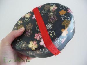 Boîte bentô motif fleuri