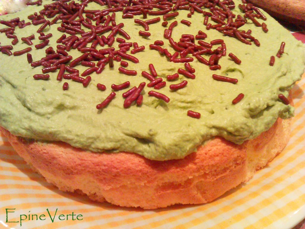 Sponge cake et chantilly au matcha