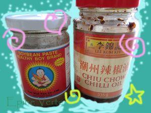 Sauces aux haricots et huile aux piments :)