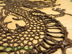 Dragon en chocolat (détail)