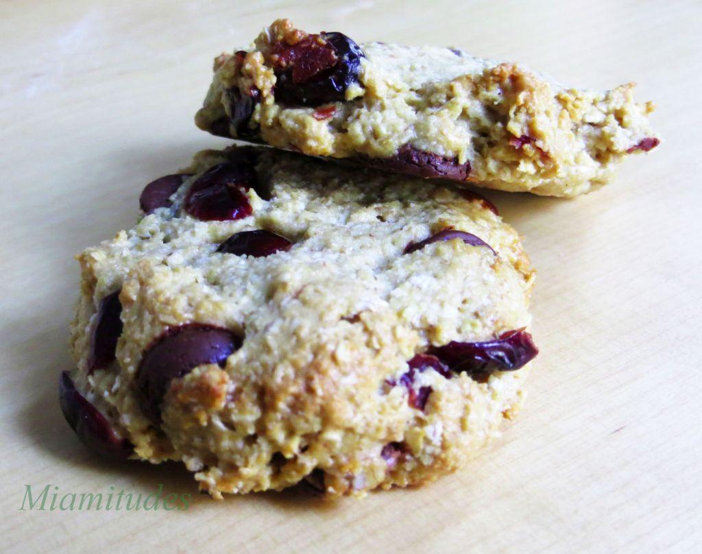 Cookies flocons d'avoine, chocolat et airelles