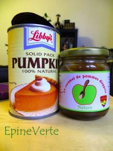 Purée de citrouille à l'américaine et caramel de pommes de Dieppe